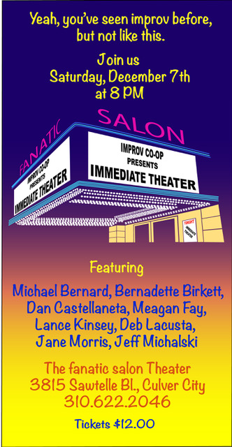 immediate theater, fanatic salon, improv